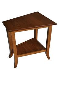 Amish Bunker Hill Wedge End Table