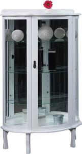 Amish Modern Mirror Back Curio Cabinet Display Case