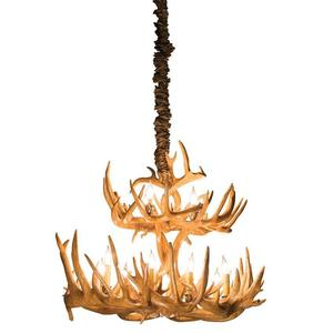 White Tail Deer Antler Chandelier - Two Tier