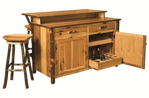 Amish Rustic Hickory Bar