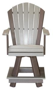 Amish Seaside Poly Composite Swivel Balcony Chair