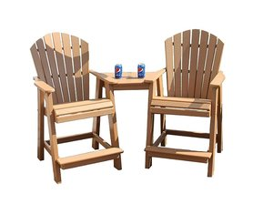 Amish Seaside Poly Composite Balcony Tete-A-Tete Set
