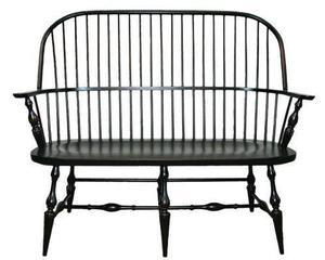 Amish Philadelphia Windsor Arm Bench