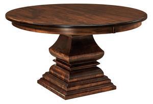 Amish Burkeville Single Pedestal Table