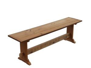 Amish Custom Reclaimed Barn Wood Trestle Bench