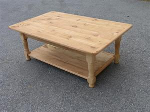 Amish Reclaimed Barn Wood Coffee Table with Shelf