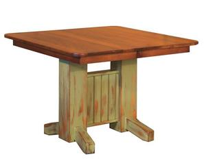 Amish Maple Wood San Juan Table with 2 Leaves