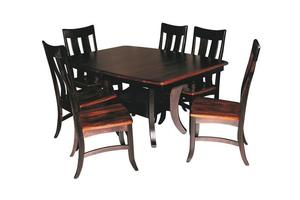 Amish Sierra Dining Table Set (Quick Ship)