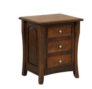 Amish Harper Three Drawer Nightstand