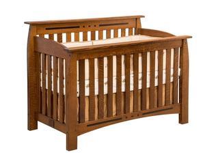 Amish Rosewood Convertible Crib