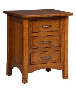 Amish Caroline Three Drawer Nightstand