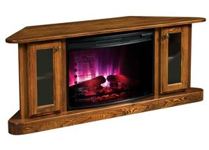 Amish Cascadia Corner Electric Fireplace and TV Stand