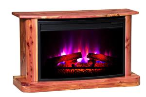Amish Rustic Cedar Electric Fireplace