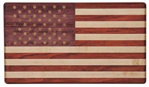 Exotic Wood American Flag Cutting Board