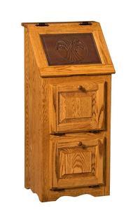 Amish Large Classic Wood Veggie Bin Cabinet