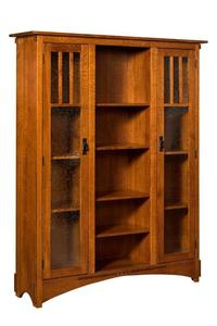 Amish Mission Display Bookcase