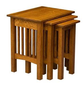 Amish Mission Nesting Table Set