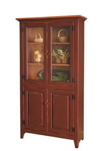 Amish Pine Four Door Pantry