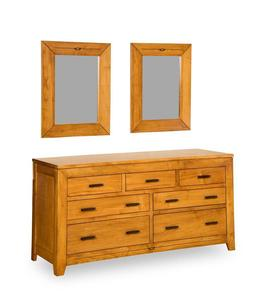 Amish Felipe 7-Drawer Dresser with Optional Mirror Set