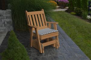Amish Recycled Poly English Gliding Chair