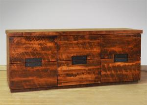 Ruff Sawn Arthur Philippe Six Drawer Dresser