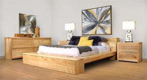 Ruff Sawn Fuller Four Piece Bedroom Set