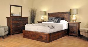 Ruff Sawn Muskoka Four Piece Bedroom Set