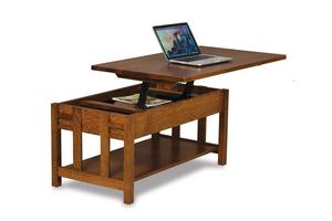 Amish Kascade Mission Open Lift Top Coffee Table with Counter Weight