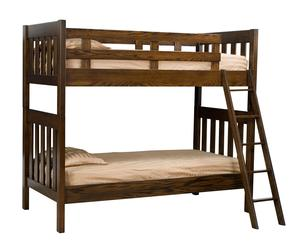 Amish Twin over Twin Mission Bunk Bed