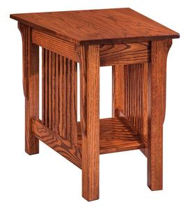 Amish Leah Wedge Shaped End Table - Quick Ship