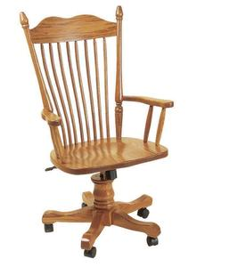 Amish Lancaster Desk Chair with Gas Lift