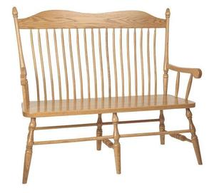 Amish Lancaster Solid Wood Bench