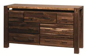 Amish Live Edge Double Dresser with Optional Mirror