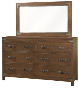 Amish Williamsport Six Drawer Dresser with Optional Mirror