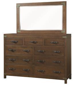 Amish Williamsport Tall Dresser with Optional Mirror