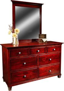 "Amish Richford 56"" Dresser with Optional Mirror"
