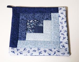 Blue Hand Quilted Hot Pad