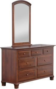 "Amish Kirby 56"" Dresser with Optional Mirror"
