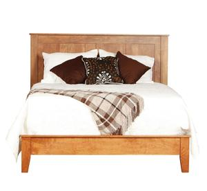 Amish Canterbury Panel Bed with Low Footboard