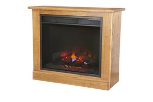 Amish Portable Fireplace Heater on Casters