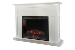"Amish Fireplace Mantel with 33"" Insert"