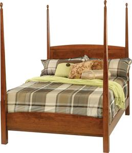 """Amish 3"""" Shaker Pencil Post Bed with Octagon Taper"""