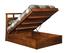 Amish Mecosta Platform Lift Storage Bed