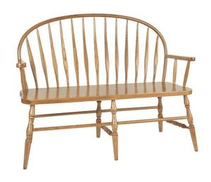 Amish Bent Low Windsor Bench