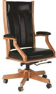 Amish Upholstered Mission Office Chair with Gas Lift