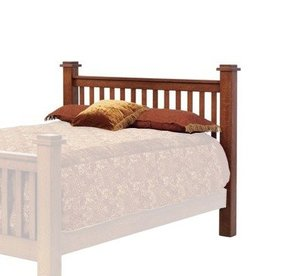 Old English Vintage Mission Bed - Headboard Only