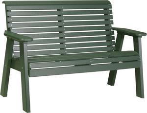 LuxCraft Poly 4' Plain Garden Bench