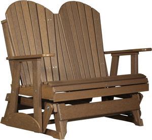 LuxCraft 4' Adirondack Poly Glider Chair