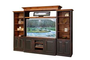 4-Piece Country Style Entertainment Center