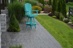 Amish Poly Adirondack Swivel Bar Chair